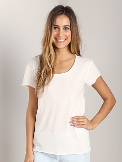 Cotton Citizen Raw Edge Scoop Tee Bone