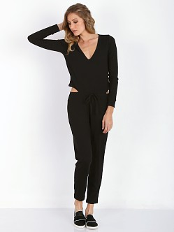 LNA Clothing Daniel Jumpsuit Black