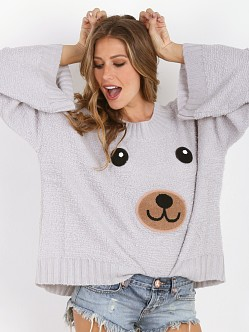 WILDFOX Teddy Girl Chunky Oversized Sweater Smokey Bear