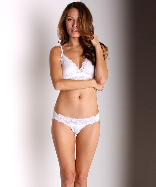 Cosabella Low Rise Ever Thong White