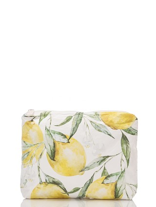 Model in lemon Aloha Small Limoncello Zipper Bag
