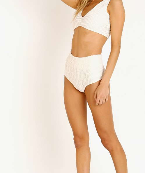 Montce High Rise Bikini Bottom Bone Crochet
