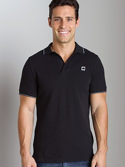 G-Star RCT Stripe Slim Polo Shirt Black