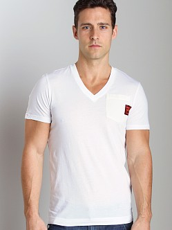 G-Star ART Diamo Pocket V-Neck Shirt White