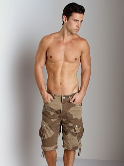 G-Star RCO Rovic Loose Camouflage Shorts Grege