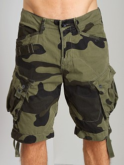 G-Star RCO Rovic Loose Camouflage Shorts Sage