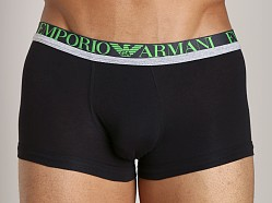 Emporio Armani Melange Insert Stretch Cotton Trunk Black
