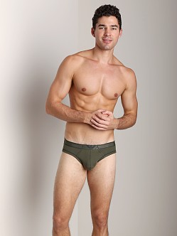 Emporio Armani Pima Rib Brief Dark Green