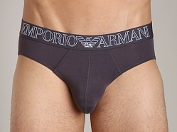 Emporio Armani Stretch Modal Brief Dark Grey