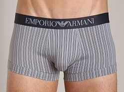 Emporio Armani Printed Fantasy Stretch Cotton Trunk Steel
