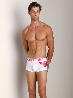 Emporio Armani Big Eagle Stretch Cotton Trunk White