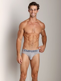 Emporio Armani Retro Eagle Stretch Cotton Brief Steel Grey