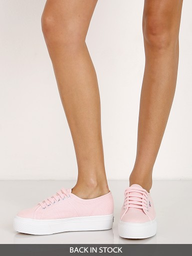 Superga Pastel Platform Sneaker Light Pink