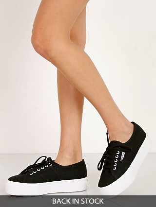 Superga Acotw Linea Up and Down Platform Sneaker Black