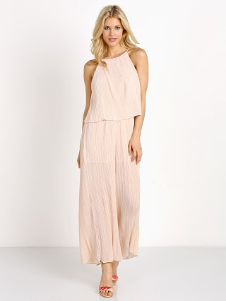 MinkPink Pleated Cropped Jumpsuit Bone