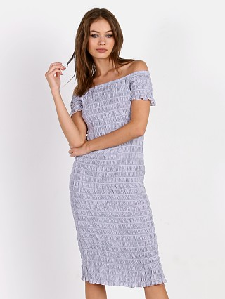 LACAUSA Smocked Dress Lilac