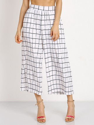 MinkPink Check Pants Black/White Check