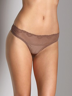 Timpa Duet Lace Low Rise Thong Chocolate