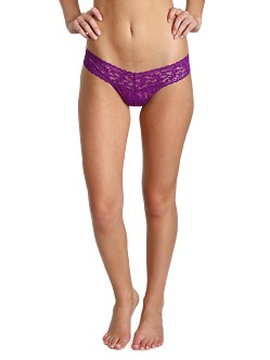 Hanky Panky Low Rise Thong Purple Velvet