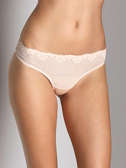 Timpa Duet Lace Low Rise Thong Beige