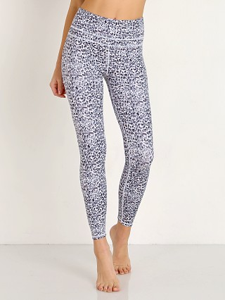Model in distorted cheetah Varley Biona Legging Tight