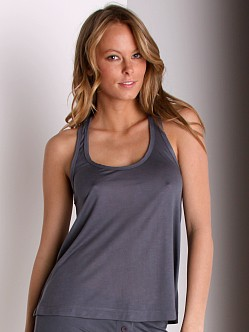 Keep Me Nikki Racer Tank Charcoal
