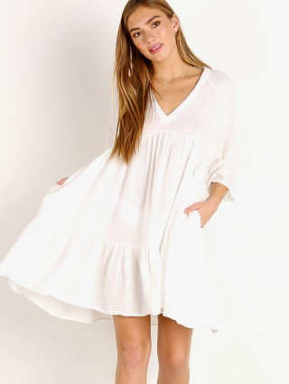 9Seed Marbella Ruffle Tier Dress White