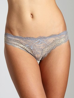 Stella McCartney Katherine Shining Thong Grey/Gold
