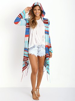 Goddis Linsey Hooded Wrap Sweater Crystal Cove