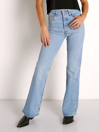 Model in tango lighten up Levi's Ribcage Boot Cut Jeans