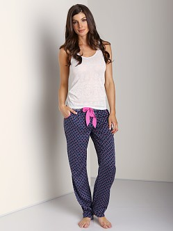 Juicy Couture Marylebone Floral Fouillard Pant Regal