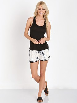 RAGA Burnout Shorts Black/White