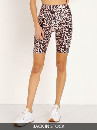 Onzie High Rise Bike Short Leopard