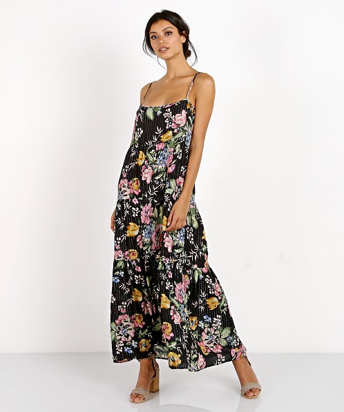 Auguste Havana Nights Delilah Slip Maxi Delilah Bloom Black