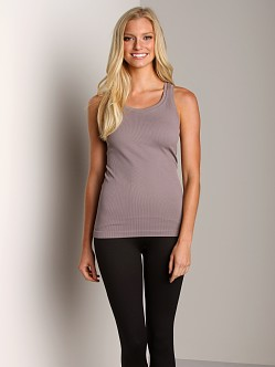 SPANX Ribbed Racerback With Shelf Bra Grey