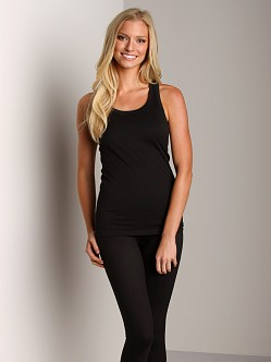 SPANX Ribbed Racerback With Shelf Bra Black