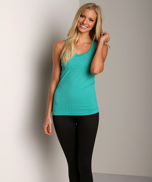 SPANX Ribbed Racerback With Shelf Bra Jade