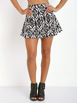 Lovers + Friends Tatum Skirt Black/White