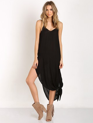 Free People Go to Gauze Tie Up Knotted Slip Black
