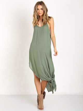 Free People Go to Gauze Tie Up Knotted Slip Leaf Green
