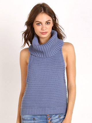 One Teaspoon Parisienne Nights Roll Neck Powder Blue