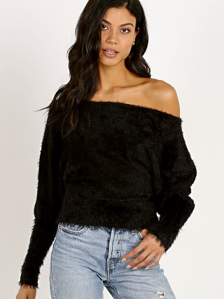 For Love & Lemons Knitz Lou Slouchy Sweater Black