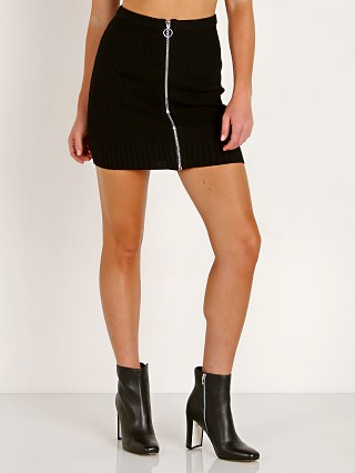 Complete the look: For Love & Lemons Knitz Harley Zipper Mini Skirt Black