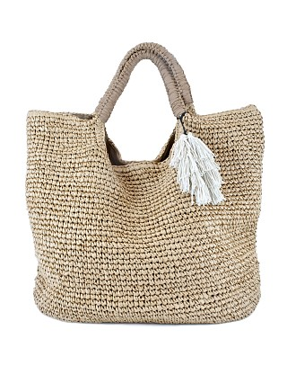 Fallon & Royce Mel Oversized Straw Tote Natural