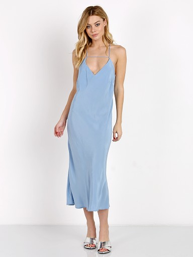 SUBOO Amore Slip Dress Mid Blue