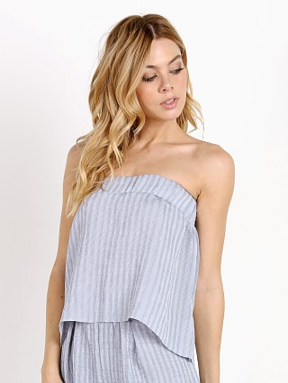Complete the look: SUBOO Twilight Sky Strapless Pleat Top