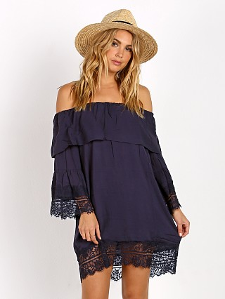 SUBOO Midnight Oasis Off Shoulder Mini Dress