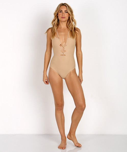 SUBOO Nude Criss Cross One Piece