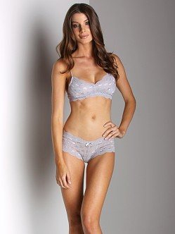 Honeydew Sweet Heart Lace Bra Grey