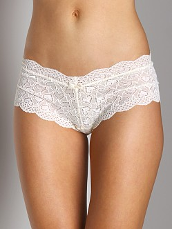 Honeydew Sweet Heart Lace Boyshort Vanilla